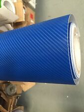 high quality 4D BLUE Carbon Fibre Vinyl Wrap Sheet Film Sticker 50cm x 1.52m