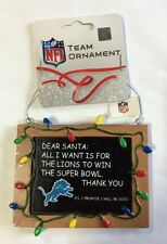 Detroit Lions Christmas Tree Ornament Chalkboard - All I want is a Superbowl