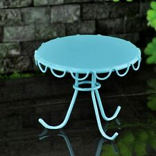 Blue Retro Chair and Table set of 2 Miniature FairyFaerie Hobbit Gnome Garden