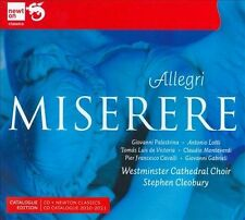 Palestrina Allegri - Miserere: Westminster Cathedral Choir/Cleobury; SALE, Bonus