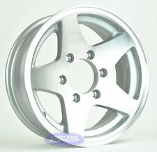 "(2)- Boat Trailer Wheels Rims 15"" ALUMINUM 5 Star 6 on 5 1/2"" Bolt Pattern"