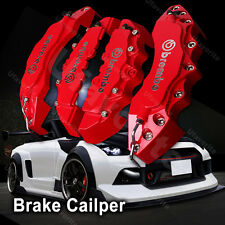 New Brembo Red Silver Car Brake Caliper Cover Front Rear Universal Racing p26