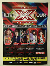 X FACTOR LIVE TOUR Poster 2013 A2 Top 5 Jiordan Taylor Third Degree Dami Jai NEW