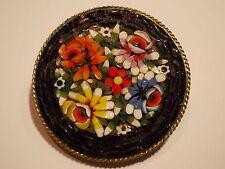 ^°^ vintage millefiori SPILLA MICRO MOSAICO Italy Art Deco 4cm D