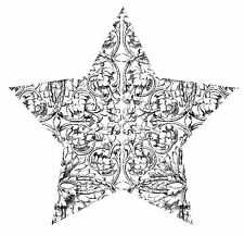 Mini Etched Star Unmounted Rubber Stamp - SA7144