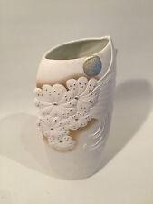 RAR OP Art Design Vase KAISER W.Germany 739 M. Frey Mattes Blumen Relief