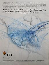 6/2009 PUB ITT ADS-B AMERICA AIR TRAFFIC CONTROL TECHNOLOGY ORIGINAL AD