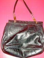 Black Leather Prada for Neiman Marcus Handbag Made in Italy