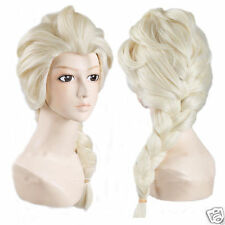 Frozen Elsa Snow Queen Blonde Wig Children's Size Fancy Dress Costume  Princess