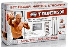 Body By Jake Tower 200 Full Door Gym Chart Guide NEW in Box + Bonus Straight