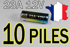 10 PILES BATTERIE 12V 60mAh 23A A23 23AE MN21 TELECOMMANDE-ALARME
