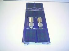 mens scotch  braces plaid tartan for trousers fits 30 to 44 waist