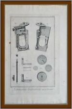 Incisione 1760 Planche Enciclopedia Diderot D'Alembert astronomia micrometro