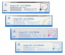 4 Toner Konica Minolta MagiColor 7450 8938621 8938622 8938623 8938624 Cartridges