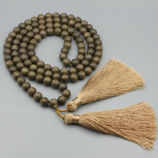 12mm Diospyros Ebenum Koenig Wood Tibet Buddhist 108 Prayer Beads Mala Necklace