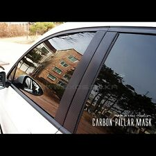 Carbon Door B Pillar Mask Window Trim For Volkswagen Golf 7 MK7 VII 2013~2016