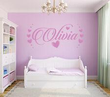 Mejor nombre de Pared Adhesivo Calcomanía Corazones Chicas Envoltura Dormitorio Art Decor