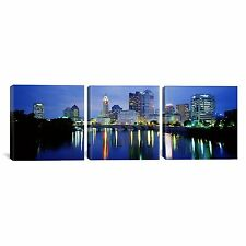 iCanvasArt 3-Piece Columbus Ohio Panoramic Images Canvas Art Print 48 x 16 Inch