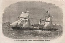 1862 HER MAJESTYS PADDLE WHEEL STEAMER INVESTIGATOR INTENDED FOR LAGOS SETTLEMEN