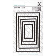 Docrafts Large Nesting Dies, Rectangle (Pack of 5) XCU 503409