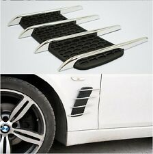 Chrome Exterior Vehicle Body Side Vent Hood Air Flow Grille Decoration Stickers