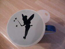 Laser cut tinkerbell wand design coffee and craft stencil
