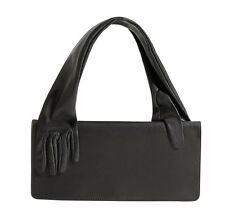BNWT MAISON MARTIN MARGIELA For H&M Black Leather Handle Glove Clutch Purse Bag