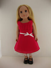 A Sweet Bright Pink Dress for 18 Inch Doll Like the American Girl Dolls Shoes So