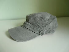 NEW MONSOON ACCESSORIZE LADIES GREY COTTON CORD MILITARY CAP RETRO BOHO SUN HAT