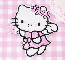 LARGE Fairy KITTY Kawaii Embroidered Iron-On Sew-On Patch Badge Kitsch DIY Craft