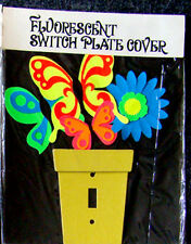 Vintage 1960's PSYCHEDELIC Flower Child HIPPIE Black Light Switch Plate Cover