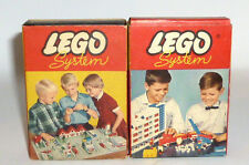 2 old small Lego System Box Legosteine Building bricks 221 + 222 original verp