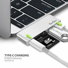 EgoIggo GN21B Type-C Hub with Power DeliveryUSB 3.0 ports, SD MacBook PRO SILVER