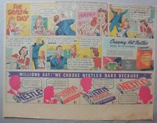 Nestle's Chocolate Bars Ad: Sue Saves The Day ! 1930's-1940's 11 x 15 inches