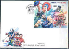 TOGO 2012 ATHLETES WEIGHTLIFTING SHOT PUT TRACK & FIELD S/S FIRST DAY COVER