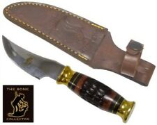 Bone Collector Knife BC-792 Blade Hunting Skinning Knife w/Leather Sheath BC792