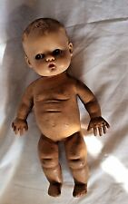 Antique Baby Doll, Authentic Magic Skin Rubber By Ideal, Some Repair needs.