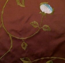 HINES & CO James Brindley Portobello Amazon Brown Floral Turquoise Remnant New