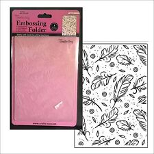 FEATHERS embossing folder Crafts Too embossing folders 5x7 CFD3102 All Occasion