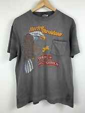 Harley Davidson vintage t-shirt eagle tearing up the competition 1989 sz. L