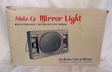 VINTAGE 1950's LIGHTED TWO SIDED VANITY MAKE UP TABLE MIRROR MAGNIFIED W/ BOX