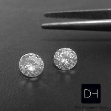 1.45 Ct. Loose Brilliant Round Cut Natural Diamond G/SI2 Matched Pair Earrings