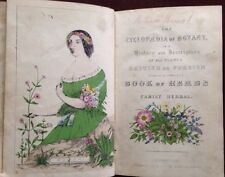Cyclopedia Botany Color Plates Herbal Medicine Remedies Cures Flowers Circa 1850