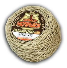 Organic Humboldt Hemp Wick - 100 ft-1mm - MADE IN USA -Bee Line Lighter Hempwick