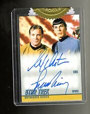Star Trek TOS 50th Anniversary William Shatner & Leonard Nimoy autograph card