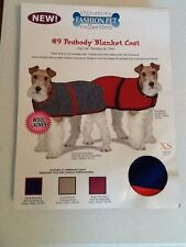 """NWT Pet Dog Wool Coat XS Red and Blue 8"""" Fashion Pet # 9 'Peabody'"""