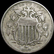 1866 With RAYS Shield Nickel -- STUNNING Type Coin  -- #R607