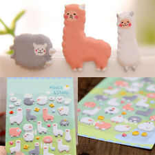 Kawaii 3D Cartoon Sheep Cartoon Puffy Animals Scrapbooking Stickers Decorative R