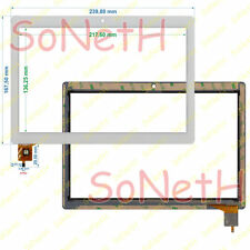 "Vetro Touch screen Digitizer 10,1"" Mediacom SmartPad S4 1S4A3G M-MP1S4A3G Bianco"