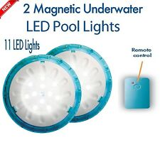 Swimming Pool LED Light Battery Remote Control Magnetic Bright Underwater Lamp